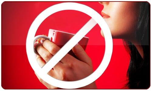 Vi raccomandiamo di evitare nel limite del possibile il consumo del caffè e prodotti contenenti caffeina.