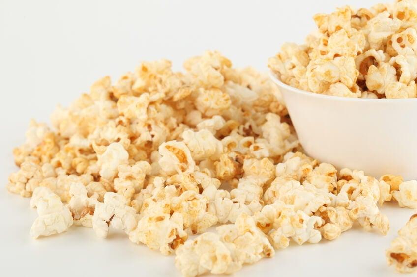 I pop corn sono un alimento sfizioso e molto salutare.