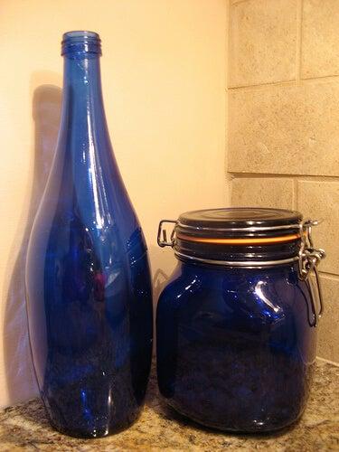 bottiglia azzurra susanvg
