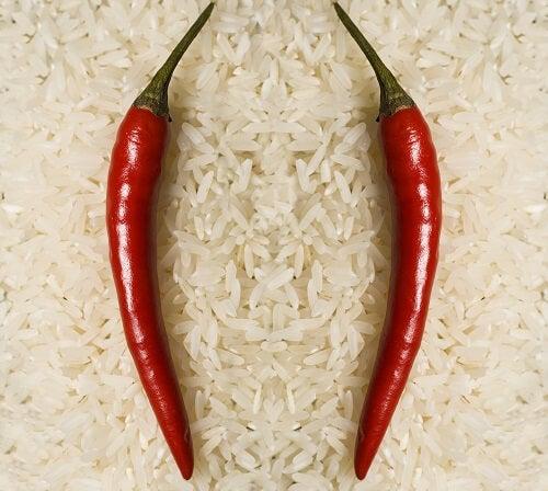 Peperoncino sul riso