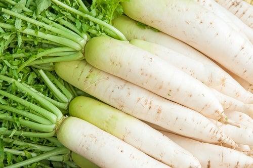 I ravanelli bianchi aiutano a curare le emorroidi