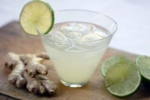acqua di limone e zenzero