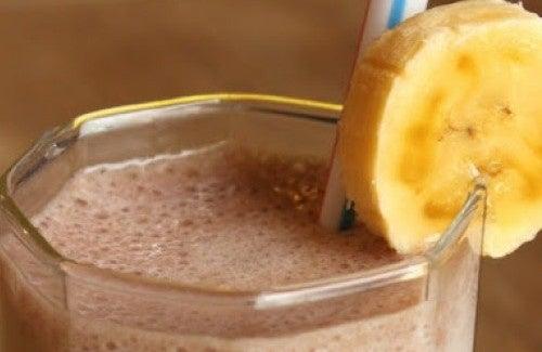 frullato di farina davena con acqua per perdere peso