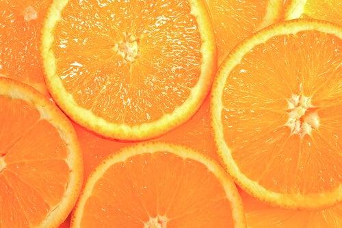 arancia per i capelli