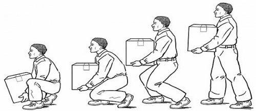 modo corretto di sollevare pesi