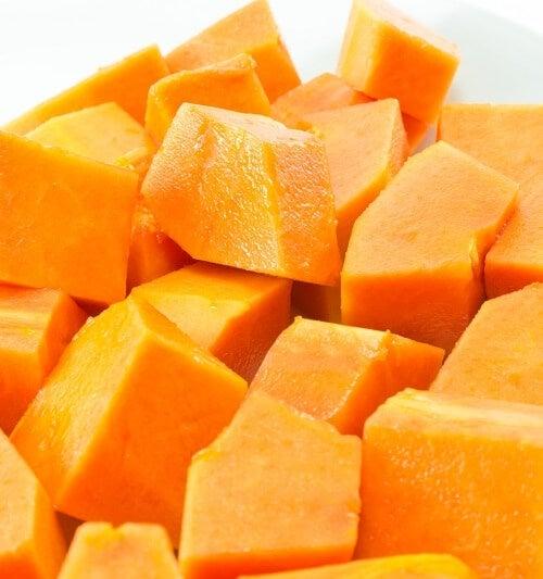 Cubetti di papaya