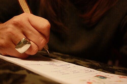scrivere una lista
