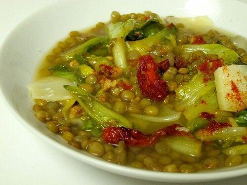 Piatto di lenticchie per sgonfiare l'addome