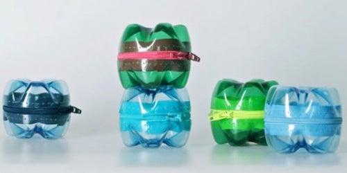 bottiglie di plastica trasformate in scatolette