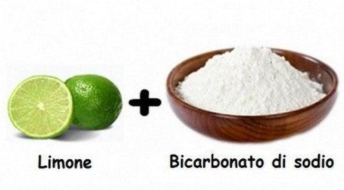 aceto di limone e bicarbonato di sodio