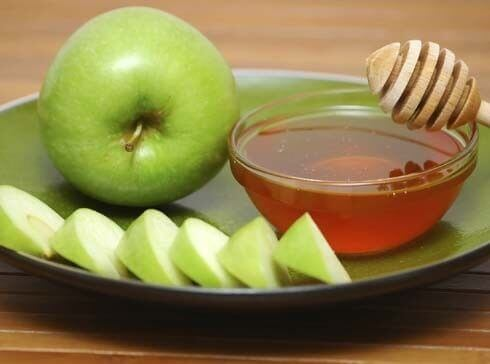 Maschera viso alla mela