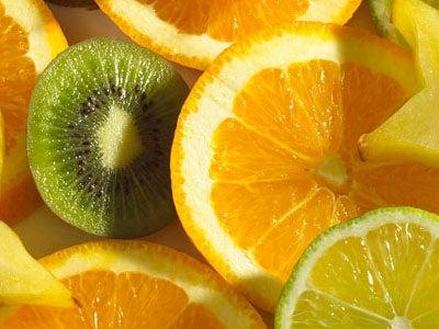 Arancia e kiwi per eliminare il muco