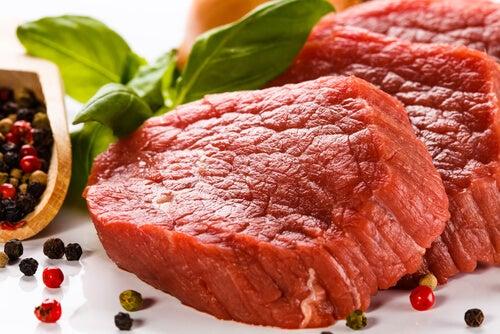 carne rossa per scacciare la fatica
