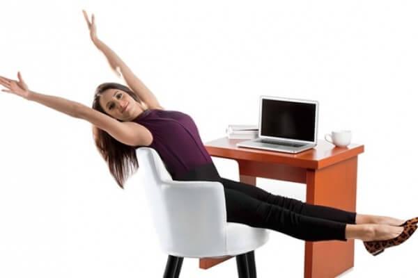 attività fisica in ufficio