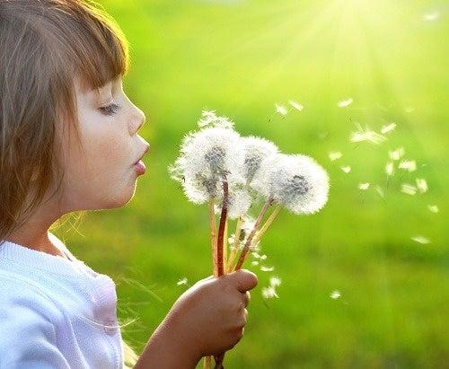 pensieri positivi bambina