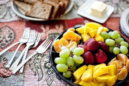 frutta per assottigliare il visore