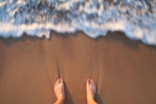 Piedi e spiaggia