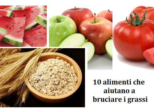 10 alimenti che aiutano a bruciare i grassi
