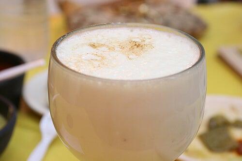 Bicchiere con frullato