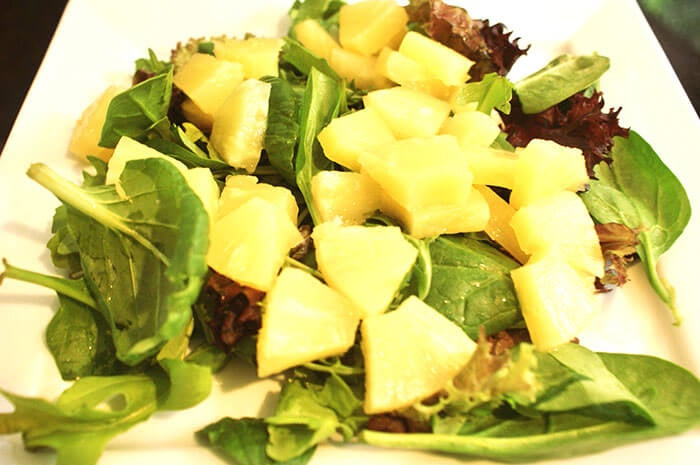 insalata spinaci ananas
