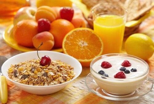cibi per la colazione sana