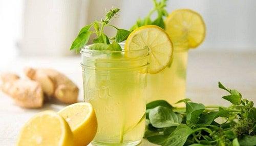Infuso allo zenzero limone e menta