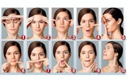 Ginnastica facciale per apparire più giovani