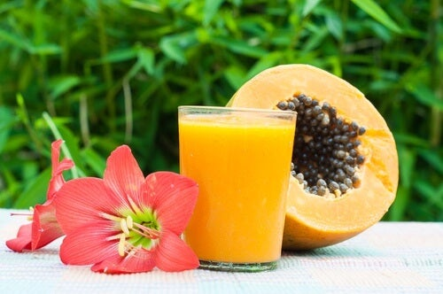 Papaya e succo