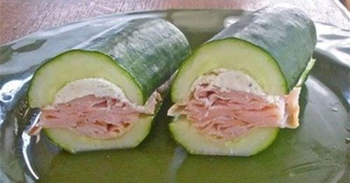 Panini di insalata di cetriolo