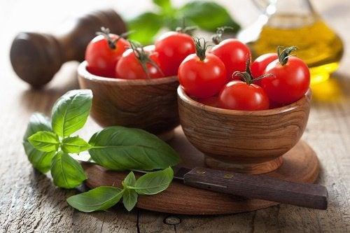 menta e pomodori