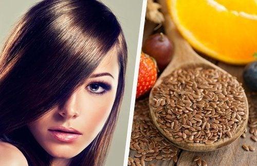 Semi di lino per rafforzare i capelli