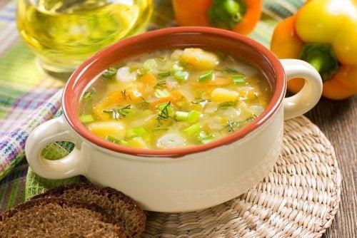 zuppa di perdita di peso sana del cuore