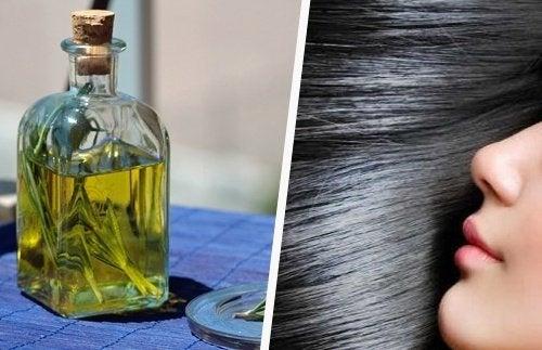 Olio di rosmarino per i capelli