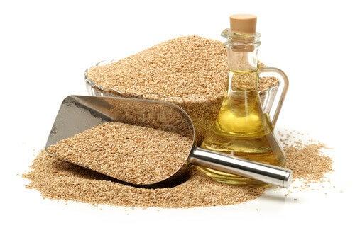 semi di sesamo e olio