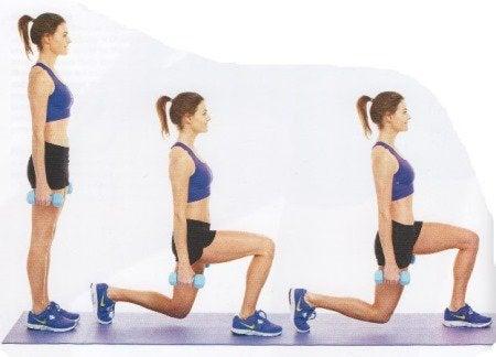 affondi per tonificare i muscoli