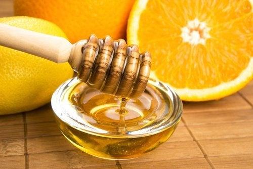 arancia e miele per mani secche