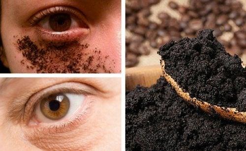 Crema naturale al caffè per il contorno occhi