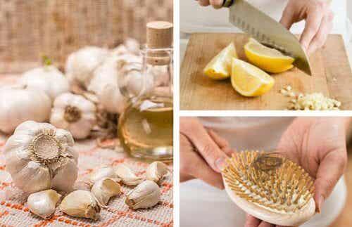 Frenare la caduta dei capelli con l'olio all'aglio