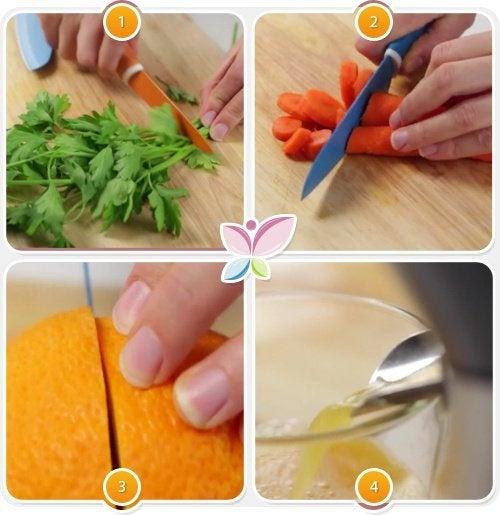 preparazione e pulizia ingredienti