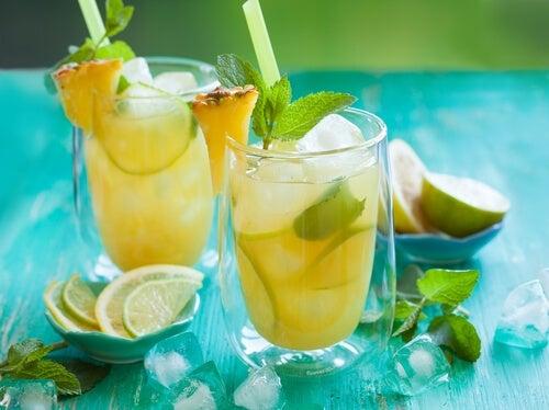 ananas e limone per il calcio