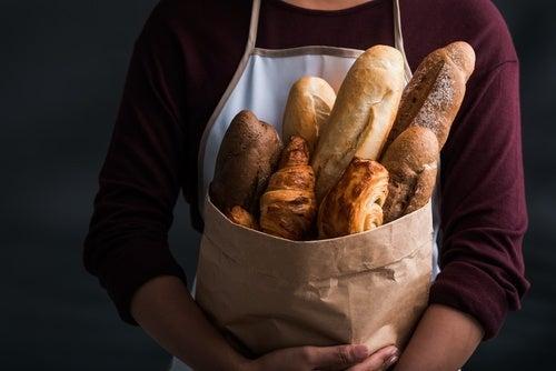 filoncini di pane bianco e integrale