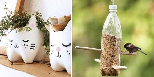 13 idee creative per riutilizzare le bottiglie di plastica