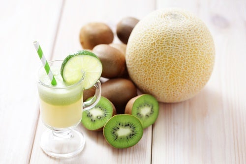 Succo di kiwi e melone