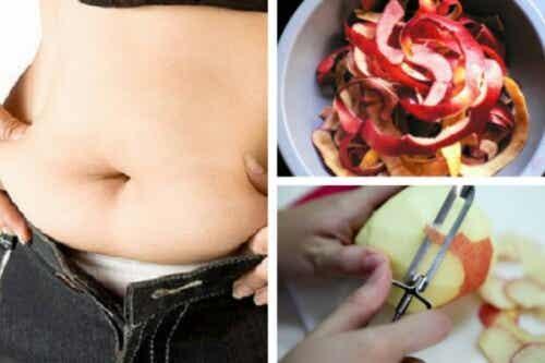 Trattamento a base di buccia di mela per perdere peso