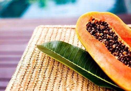 papaya e foglia
