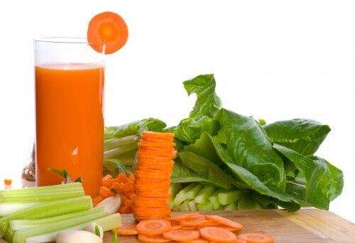 Rilassare i muscoli con sedano e carota