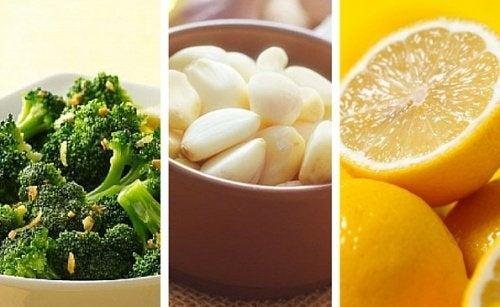 Prendersi cura del peso e della salute con broccoli, limone e aglio