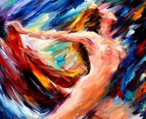 donna nuda in volo sensualità