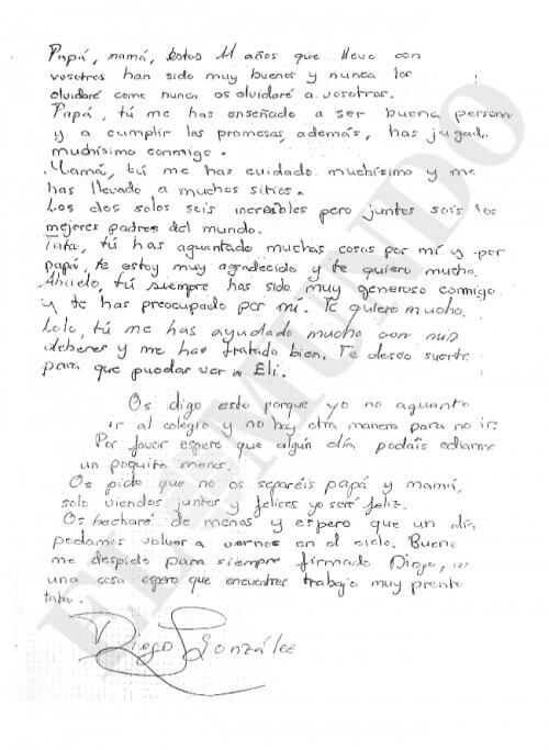 lettera d'addio originale