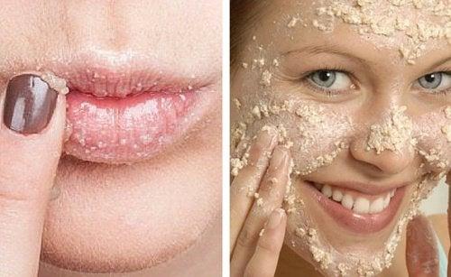 Come preparare un esfoliante naturale per il viso e le labbra